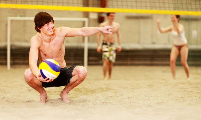 The Oasis - Atlas Industrial Park: One Drop-In Sand Volleyball Session for Four with Beer or 10 Drop-In Volleyball Sessions at The Oasis (50% Off)