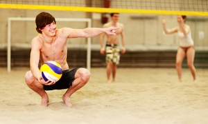 The Oasis: One Drop-In Sand Volleyball Session for Four with Beer or 10 Drop-In Volleyball Sessions at The Oasis (50% Off)