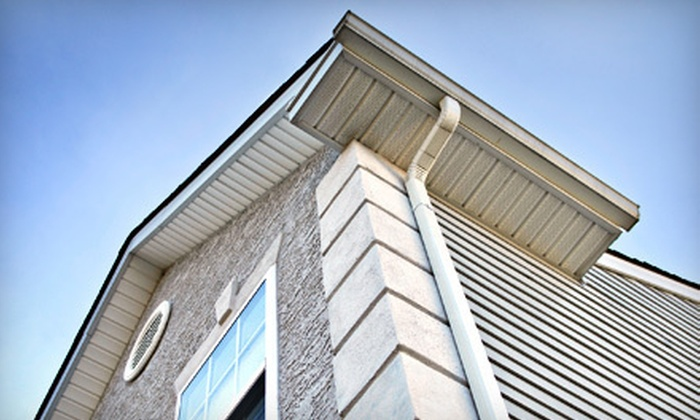 JAB Gutters - West Orange: Gutter Cleaning or Power Washing of Home Exterior, Deck, Patio, or Sidewalk from JAB Gutters (Up to 70% Off)