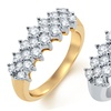 3/4 CTTW Diamond Pyramid Ring in 10-Karat Gold