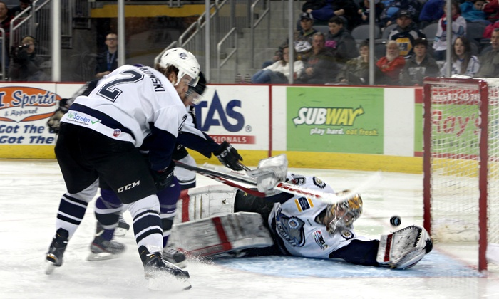 Evansville Icemen - Ford Center: Evansville IceMen Hockey Game at Ford Center on March 15 or 20 (Up to 62% Off). Two Seating Options.