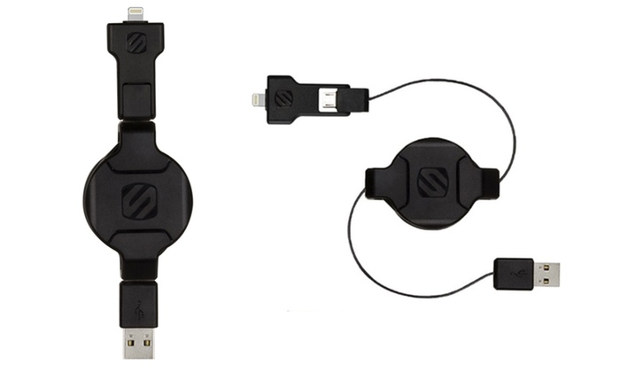 Product DetailsScosche Retractable Lightning and Micro USB Cable   Groupon. Retractable Lightning To Usb Cable. Home Design Ideas