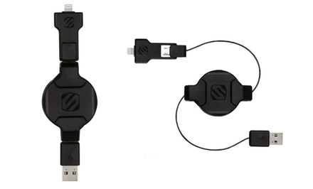 Scosche Apple-Certified Retractable Cable for Lightning and Micro USB Devices