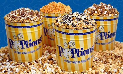 image for Gourmet Popcorn Bags and Tins at POPtions! Popcorn (50% Off). Two Options Available