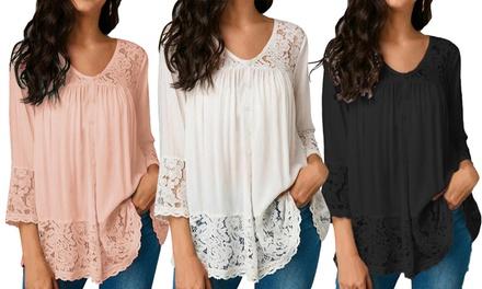 1 o 2 camicette da donna in cotone disponibili in 3 colori e diverse taglie
