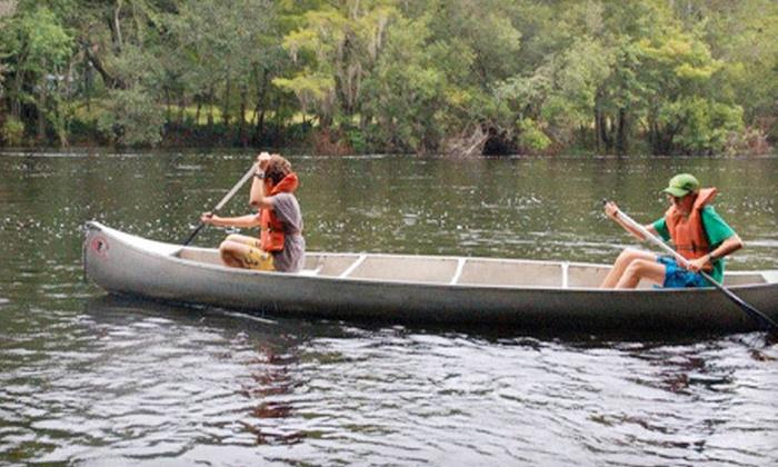 Santa Fe Canoe Outpost - High Springs-Alachua: Kayak Trip for One, Canoe or Kayak Trip for Two, or $30 for $60 Worth of Trips from Santa Fe Canoe Outpost