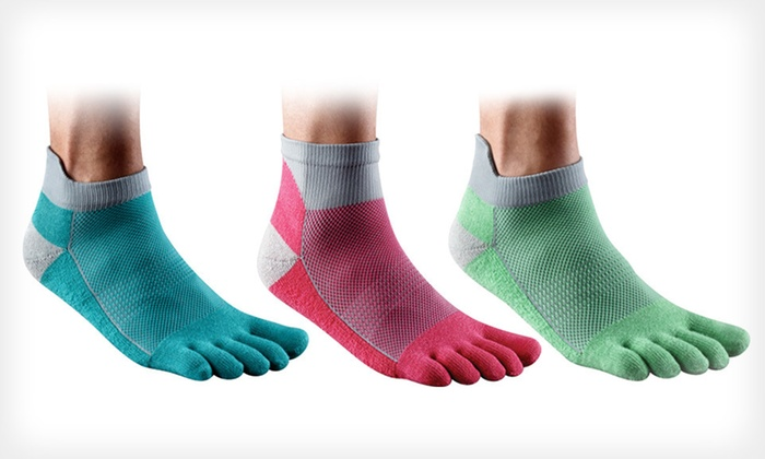 Injinji Performance Toe Socks: Two- or Three-Pack of Injinji Toe Socks (Up to 60% Off). Multiple Styles, Sizes, and Colors Available. Free shipping.