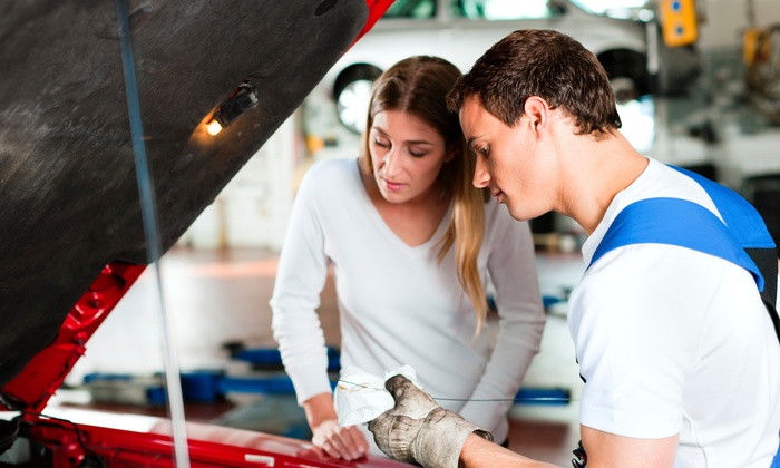 En-vee Auto Repair - Richey Bay Park: One Full-Service Oil Changes with Tire Rotation and Brake Inspection from EN-VEE Auto Repair (50% Off)