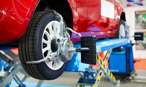 Meineke: Oil-Change Package, Wheel Alignment, or Front or Rear Brake Replacement at Meineke (Up to 53% Off)