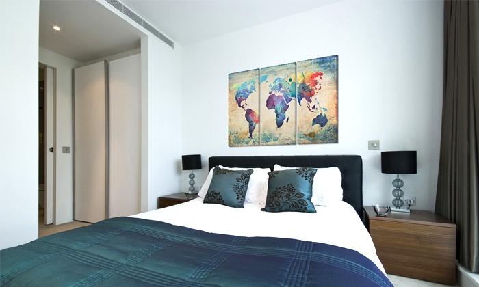 Dreiteilige leinwand groupon goods - Lienzos para dormitorios ...