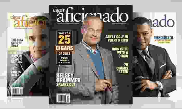 1-Year Cigar Aficionado Magazine Subscription: 1-Year, 6-Issue Subscription to Cigar Aficionado Magazine. Free Shipping.