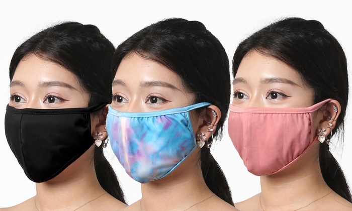 100 Cotton Reusable Non Medical Face Mask 1 3 Or 6 Pack Groupon