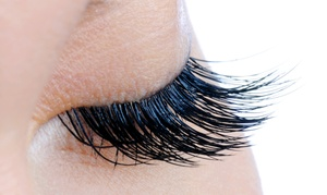 LV Lash Lounge: Full Set of Eyelash Extensions with Options for One or Two Refills at LV Lash Lounge (Up to 61% Off)
