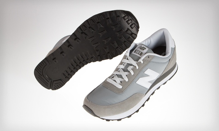 New Balance Men's Retro 501 in Gray: $39 for New Balance Men's Retro 501 in Gray and White ($54.95 List Price). Free Shipping. Multiple Sizes Available.