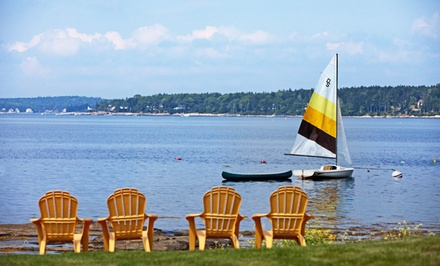 Stay at Sunset Beach in East Boothbay, ME. Dates into October.
