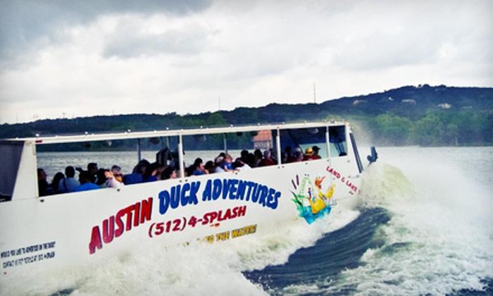 Austin Duck Adventures - Downtown: Duck Tour for Two or Four from Austin Duck Adventures (Half Off)