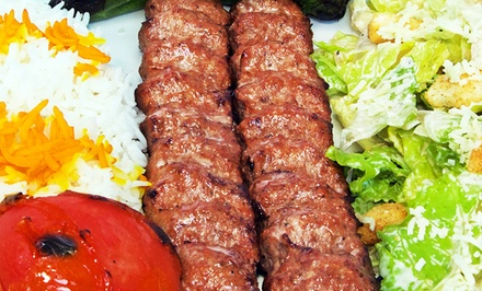 Mediterranean Dinner with Hookah for Two or Four at Shisha Cafe Lounge (Up to 46% Off)