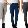 6-Pack of Ladies' Fleece-Lined Leggings With Front Zipper