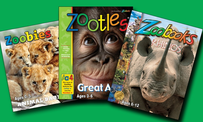 """Zoobooks: One- or Two-Year Subscription to """"Zoobooks,"""" """"Zoobies,"""" or """"Zootles"""" Magazine"""