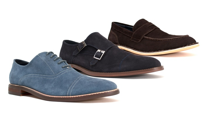 Joseph Abboud Blue Suede Shoes