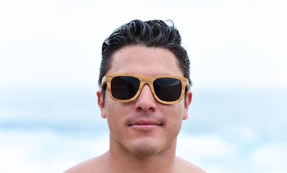 Wooden Sunglasses from Jonny B (Up to 50% Off). Two Options Available.