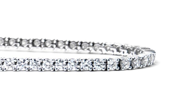 Crystal Tennis Bracelet With Swarovski Elements