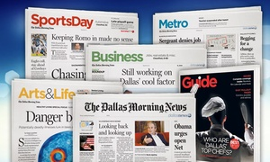 "The Dallas Morning News: 13 Weeks of 7-day Print Delivery of ""The Dallas Morning News"" with Optional ePaper (Up to 75% Off)"