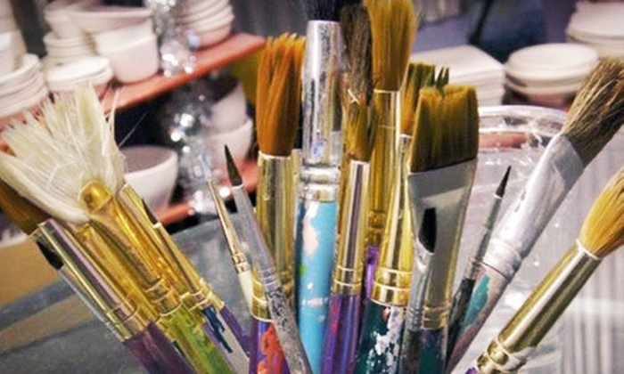 Purple Glaze Studio - Multiple Locations: $15 for $30 Worth of Pottery Painting and Mosaic Making at Purple Glaze Studio