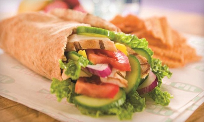 Pita Pit - Multiple Locations: Pita Meal for Two with Fountain Drinks or a 10-Pita Platter at Pita Pit (Up to 54% Off)