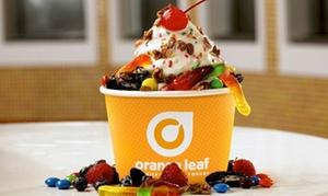 Orange Leaf: One or Three Groupons, Each Good for $10 Worth of Frozen Yogurt at Orange Leaf Frozen Yogurt (40% Off)