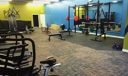 Gym Membership and Personal Training Sessions at Peak Performance Fitness (Up to 62% Off). 5 Options Available
