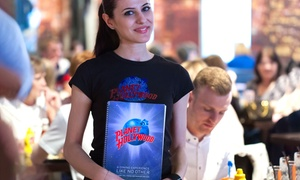 Planet Hollywood: American Set Menu Meal: Two Courses or Three Courses with Drinks for Up to Six at Planet Hollywood (Up to 48% Off)