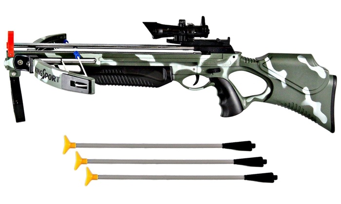 Military Camo Crossbow Deluxe Set with Scope