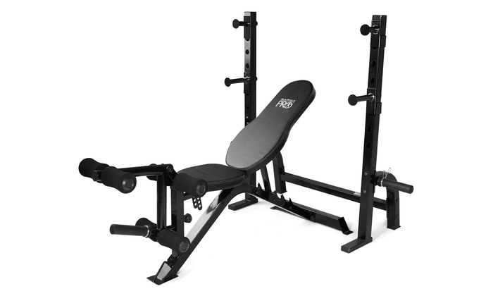Olympic Bench With Squat Rack Groupon Goods