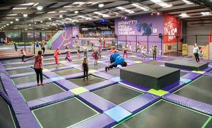 One-Hour Trampoline Park Access for Up to Four at Air Unlimited (37% Off)
