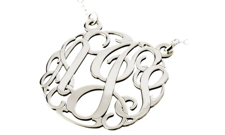 One Monogrammed Necklace or Personalized Jewelry from AJ's Collection (Up to50% Off)