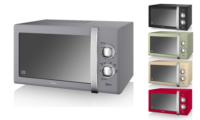 Swan SM22130 Retro 20L 800W Microwave in Choice of Colour