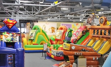 Bounce Pass and 80 Tokens or Two Bounce Passes, Pizza, Drinks, and 40 Tokens at Bounce-a-Rama (Up to 38% Off)