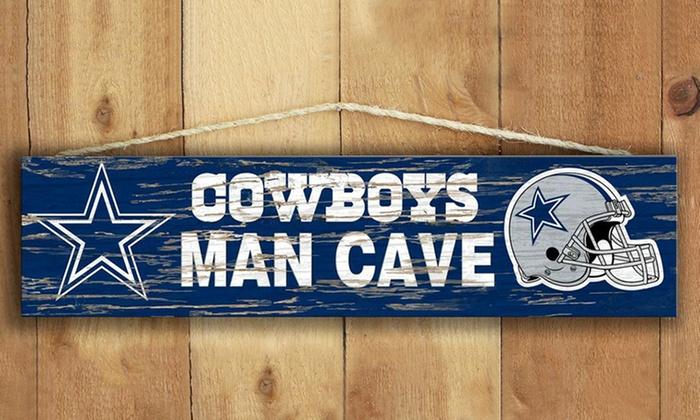 NFL Distressed Man Cave Sign: NFL Distressed Man Cave Sign.