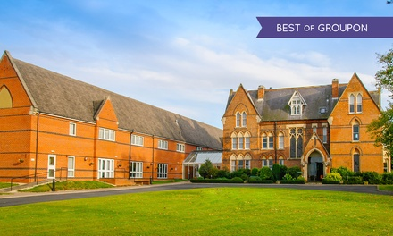 Stratford-upon-Avon: 1 or 2 Nights for Two with Breakfast, Dinner, Wine and Leisure Access at 4* Ettington Chase Hotel