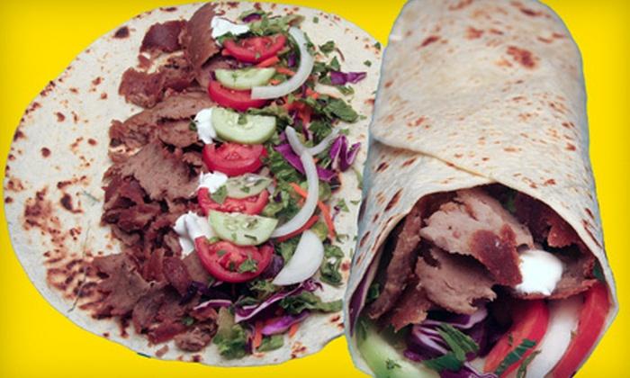 The Kebab Shop - Encinitas: $7 for $14 Worth of Kebabs and Beverages at The Kebab Shop
