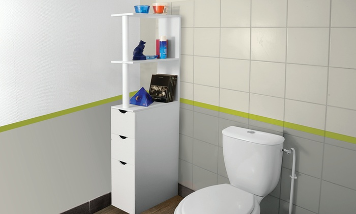 Mobile bagno con cassetti groupon goods - Mobiletto salvaspazio bagno ...