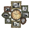 Urban Designs Weathered Metal Wall Clock and Picture Frame