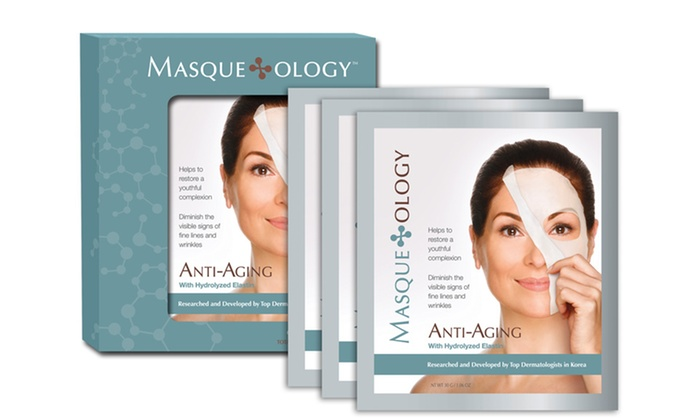 6-Pack of Masqueology Anti-Aging Masks: 6-Pack of Masqueology Anti-Aging Masks. Free Shipping.