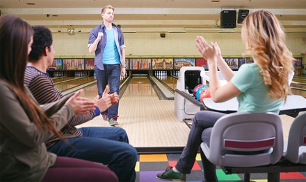 Two Hours of Bowling for 4 or 8 with Shoes at Pinsetter Bar & Bowl (Up to 51% Off)