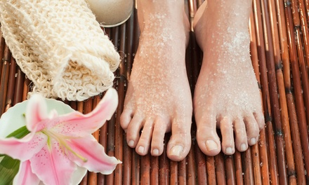 Gel or Spa Mani-Pedi with Honey Sugar Scrub, or Gel Manicure at Shine Bright Nail and Tan (Up to 50% Off)