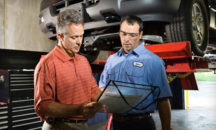 The Shop - Tanforan: One or Three Oil Changes and One Multipoint Inspection at The Shop (Up to 66% Off)