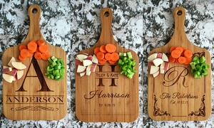 One Or Two Custom Wooden Serving Boards From American Laser Crafts (up To 55% Off). Four Options Available.