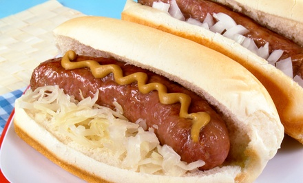 $20 for Four Groupons, Each Good for $10 Worth of Brats and Sandwiches at Brat So Stop ($40 Total Value)