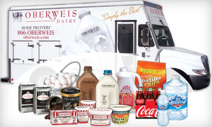 Oberweis Dairy - Multiple Locations: $50 for $100 Worth of Home-Delivered Groceries from Oberweis Dairy